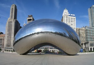 Chicago's Cloud Gate (The Bean) photo by jmcmichael